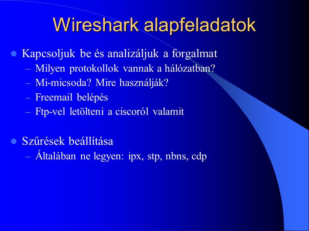 Wireshark alapfeladatok