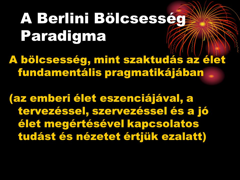 A Berlini Bölcsesség Paradigma