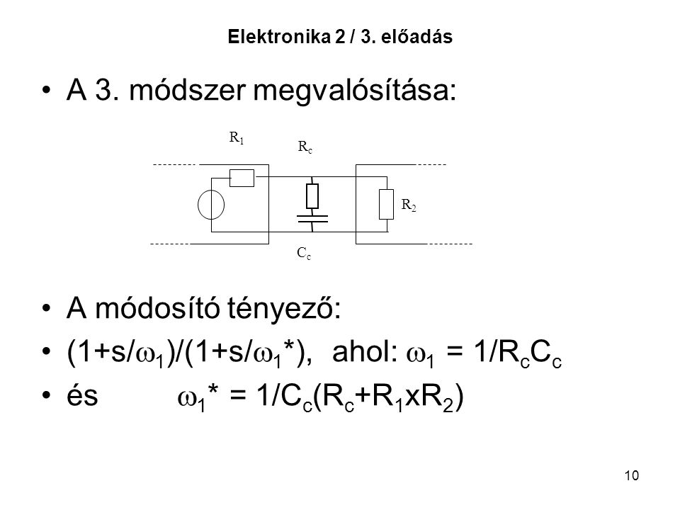 A 3. módszer megvalósítása: