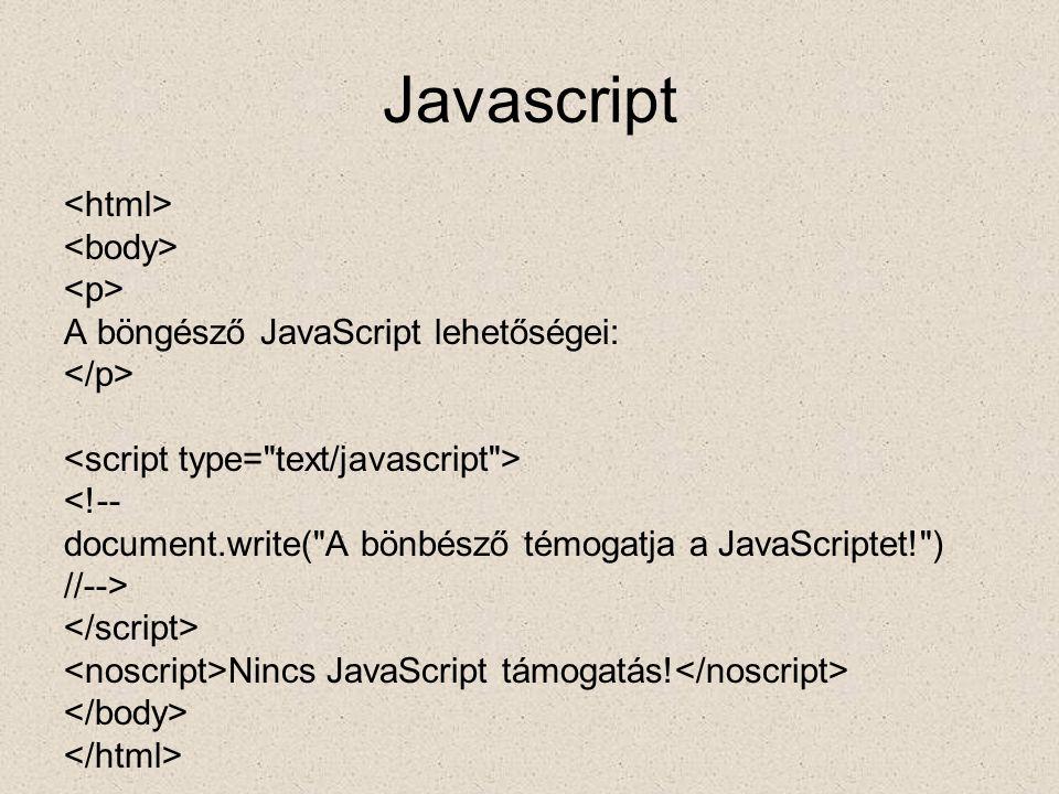 Javascript <html> <body> <p>