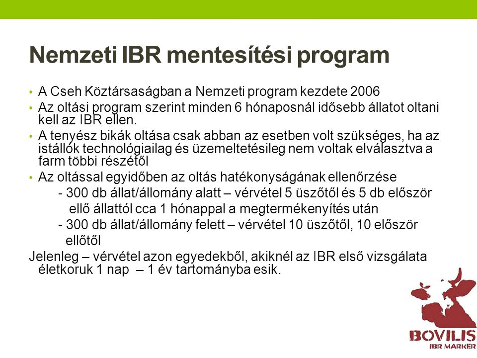 Nemzeti IBR mentesítési program