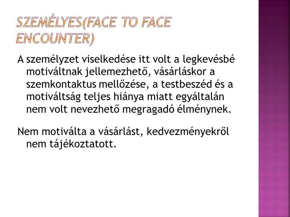 Személyes(Face to face encounter)
