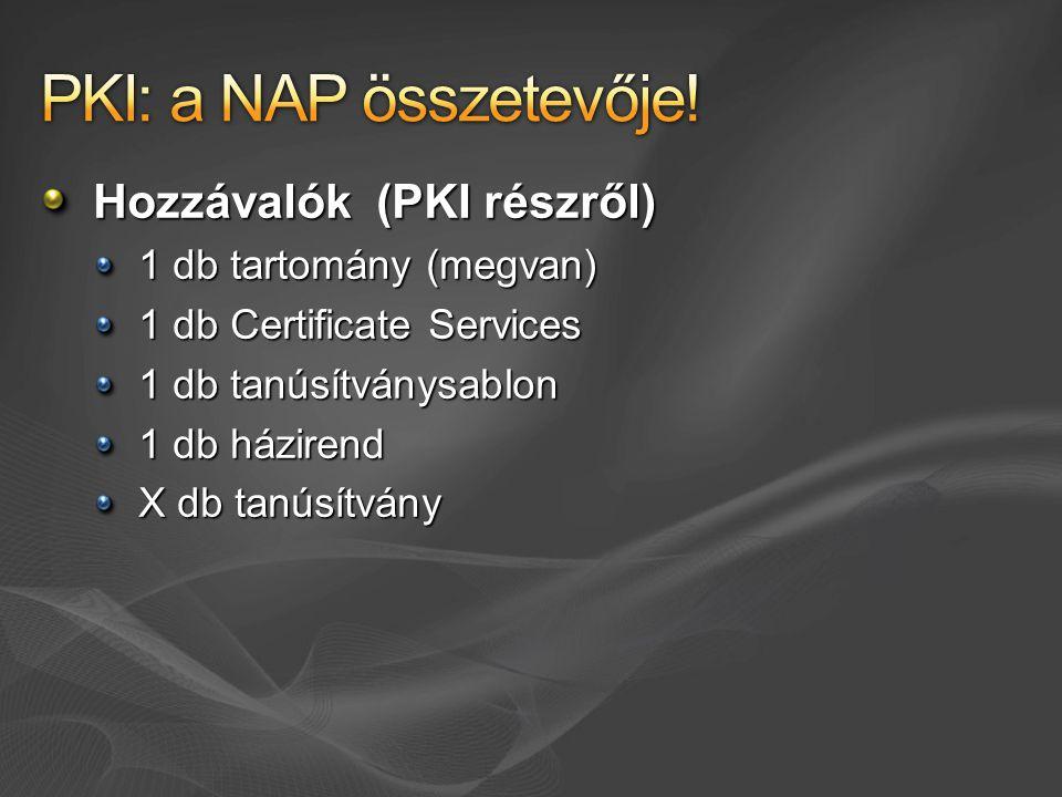 PKI: a NAP összetevője! Hozzávalók (PKI részről)