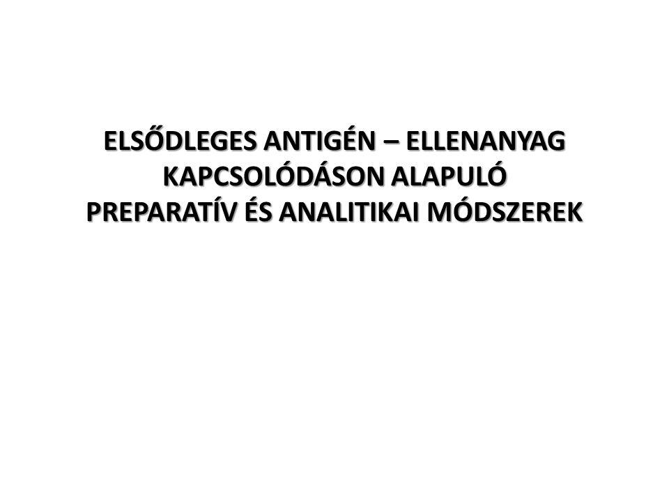 ELSŐDLEGES ANTIGÉN – ELLENANYAG KAPCSOLÓDÁSON ALAPULÓ