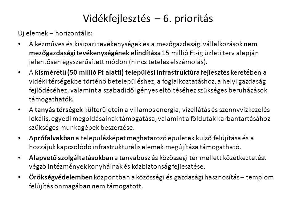 Vidékfejlesztés – 6. prioritás