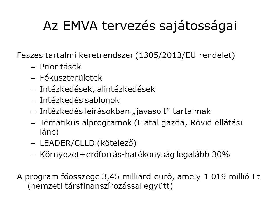 Az EMVA tervezés sajátosságai