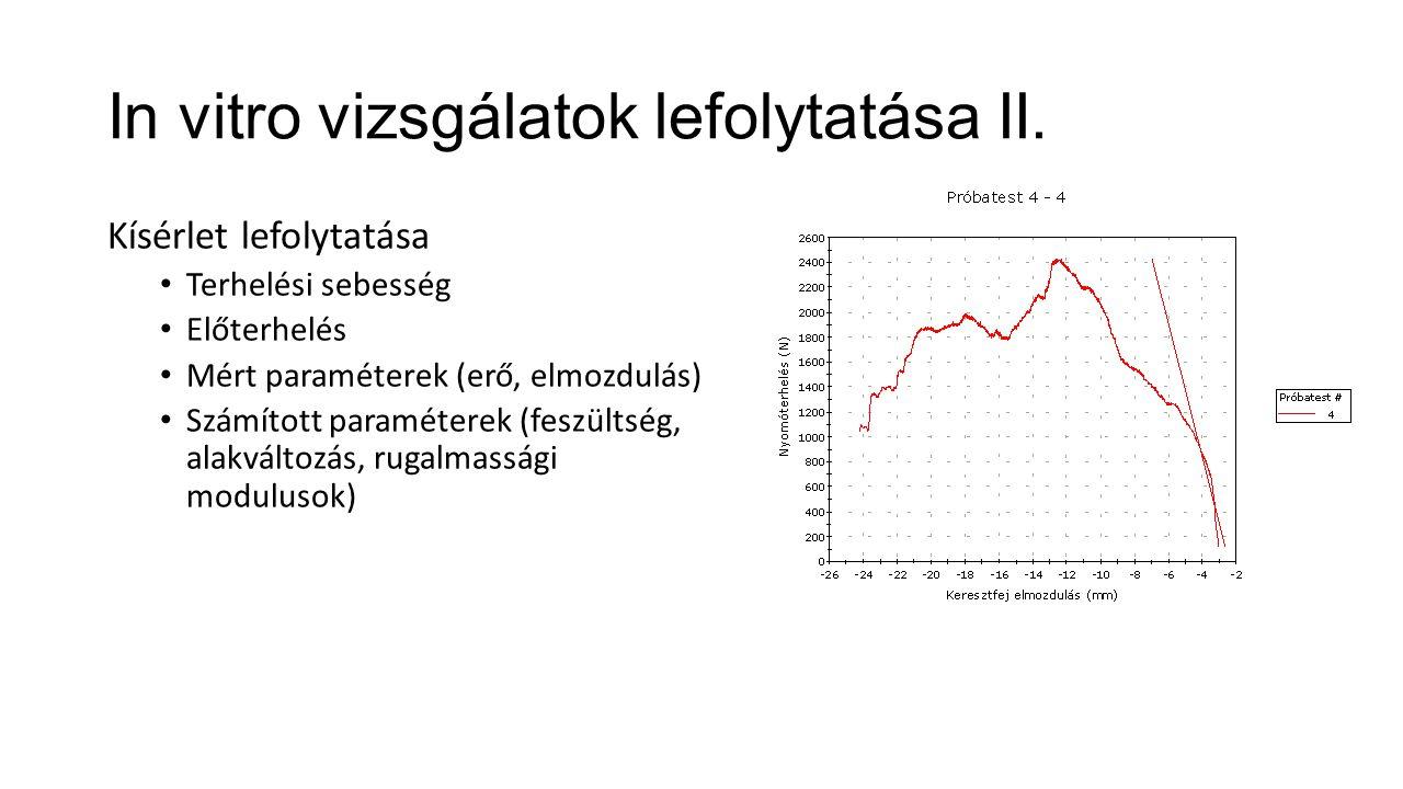In vitro vizsgálatok lefolytatása II.