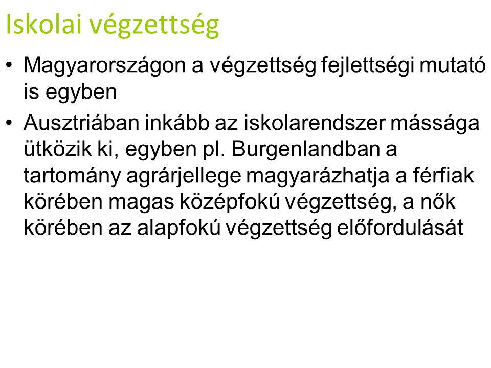 Iskolai végzettség Magyarországon a végzettség fejlettségi mutató is egyben.