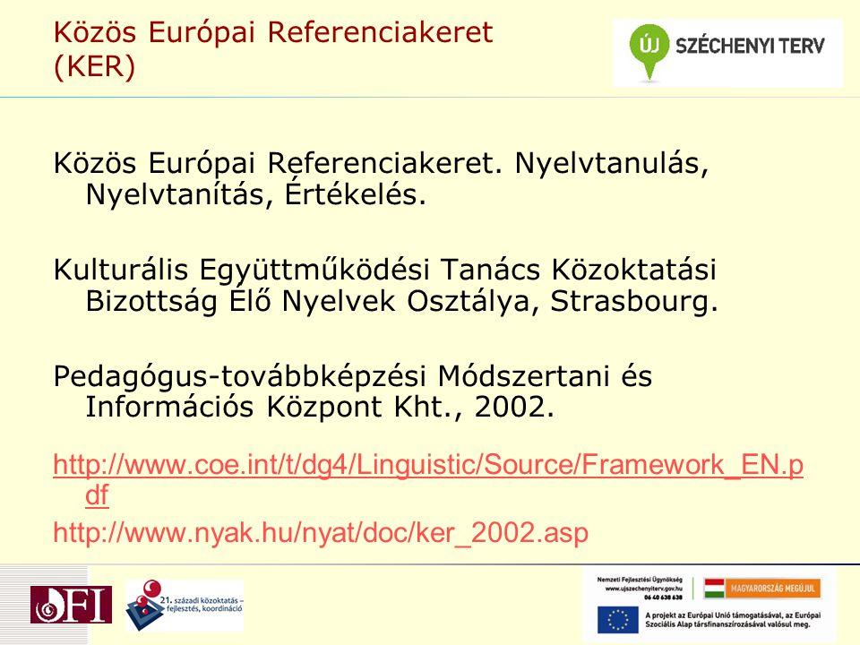 Közös Európai Referenciakeret (KER)