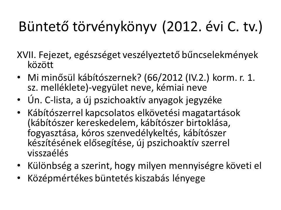 Büntető törvénykönyv (2012. évi C. tv.)