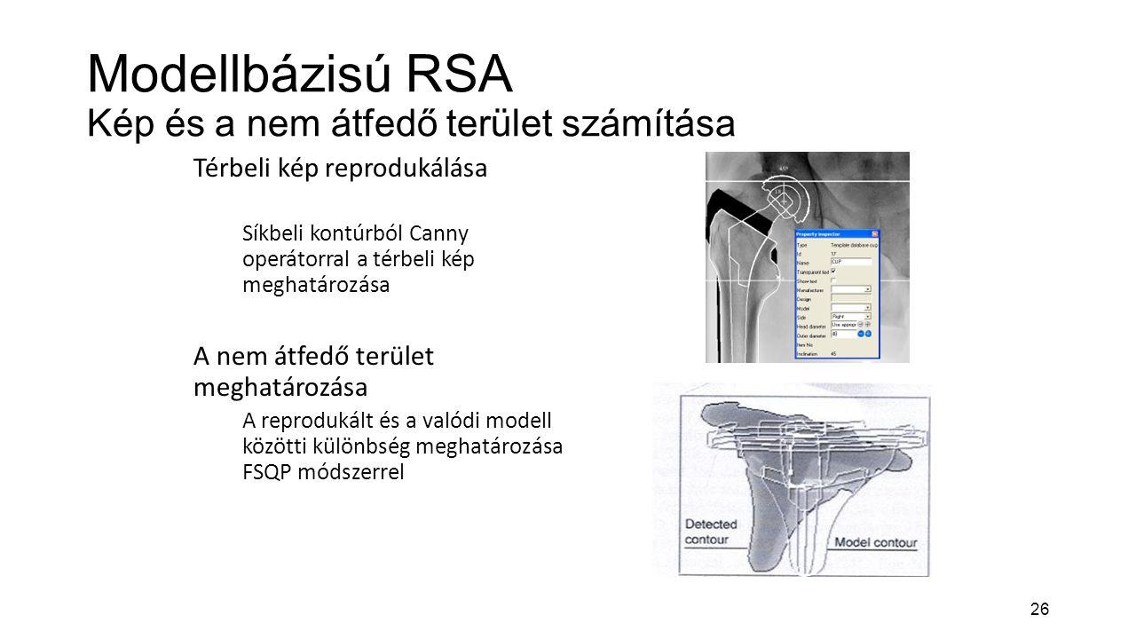 Modellbázisú RSA Kép és a nem átfedő terület számítása