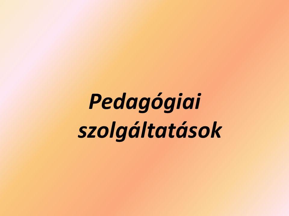 Pedagógiai szolgáltatások