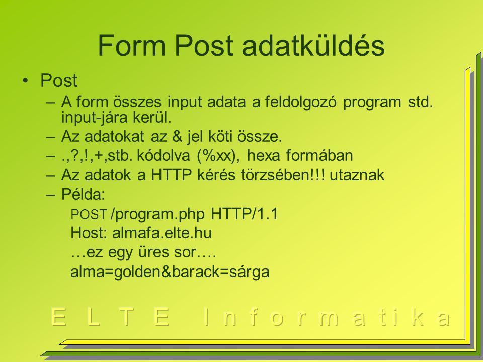 Form Post adatküldés Post