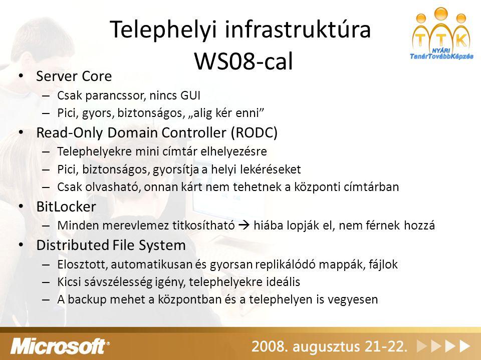 Telephelyi infrastruktúra WS08-cal