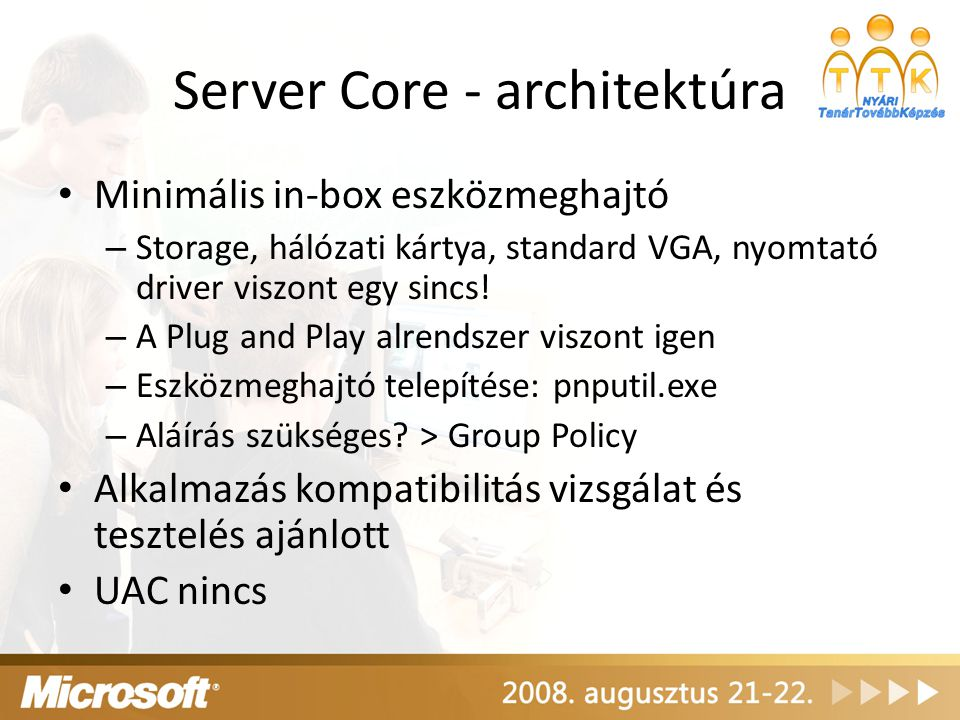 Server Core - architektúra