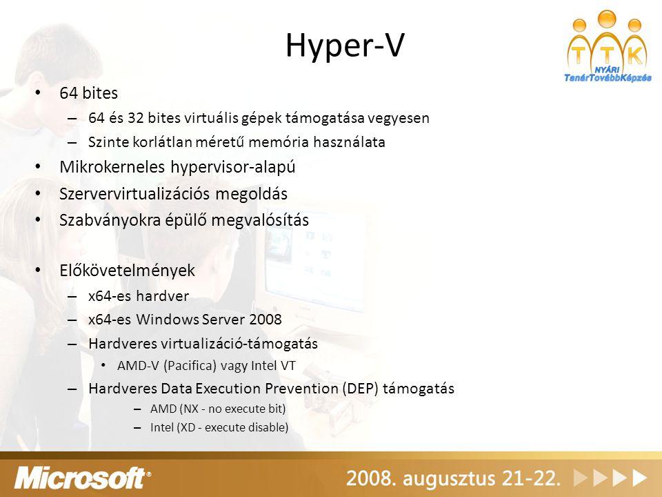 Hyper-V 64 bites Mikrokerneles hypervisor-alapú