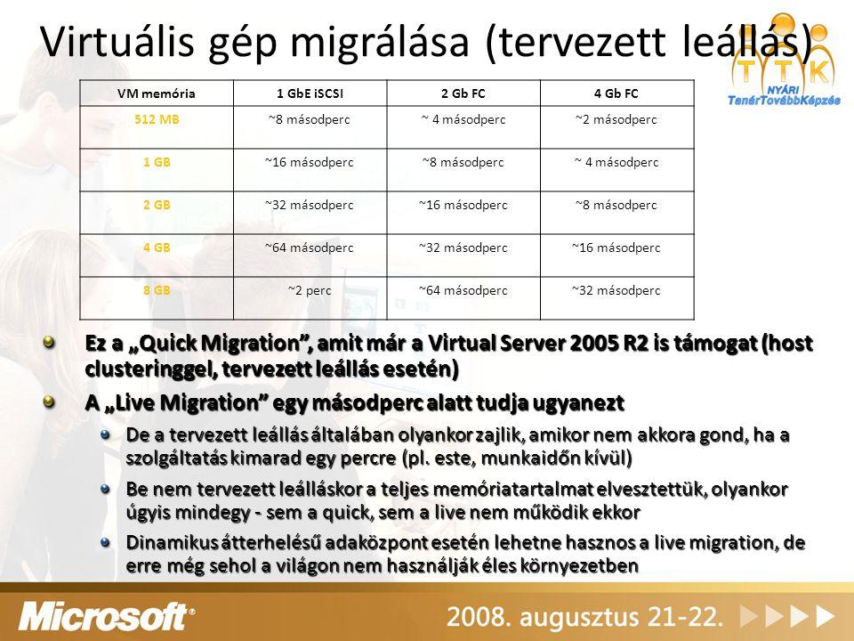 Virtuális gép migrálása (tervezett leállás)