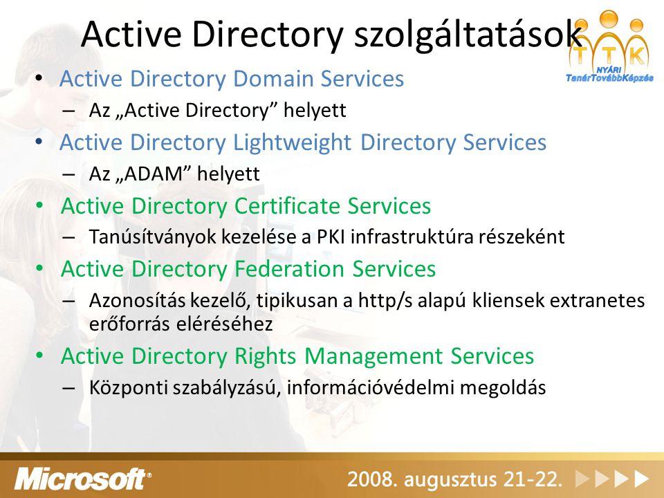 Active Directory szolgáltatások