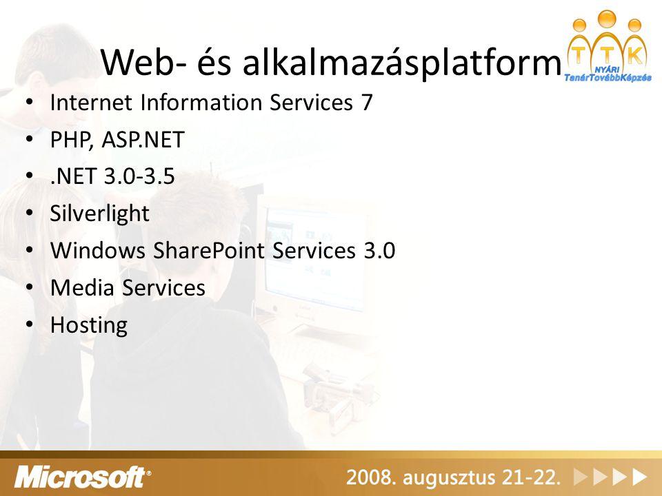 Web- és alkalmazásplatform