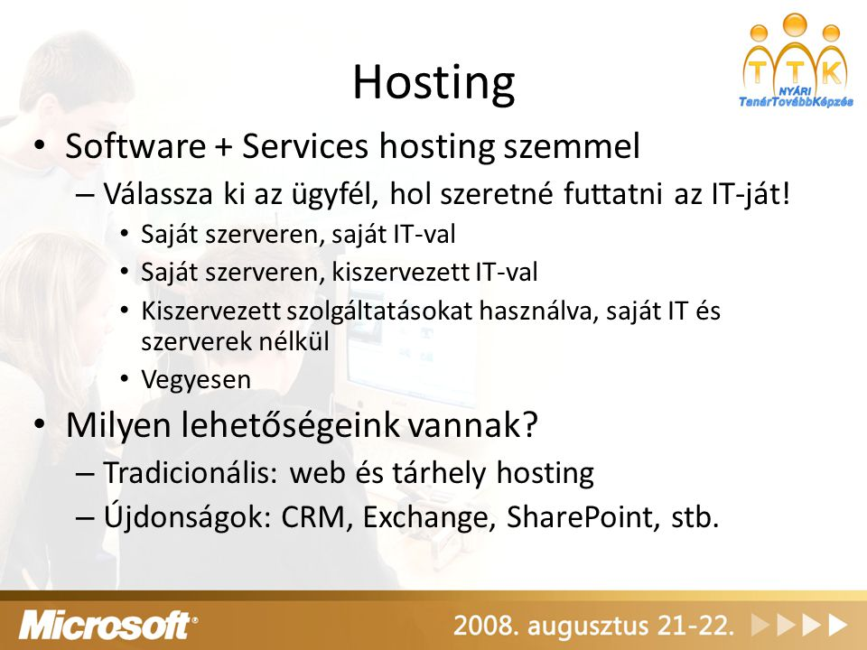Hosting Software + Services hosting szemmel