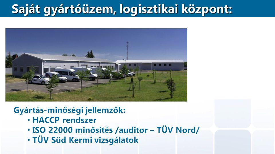 Saját gyártóüzem, logisztikai központ: