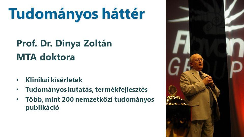 Tudományos háttér Prof. Dr. Dinya Zoltán MTA doktora
