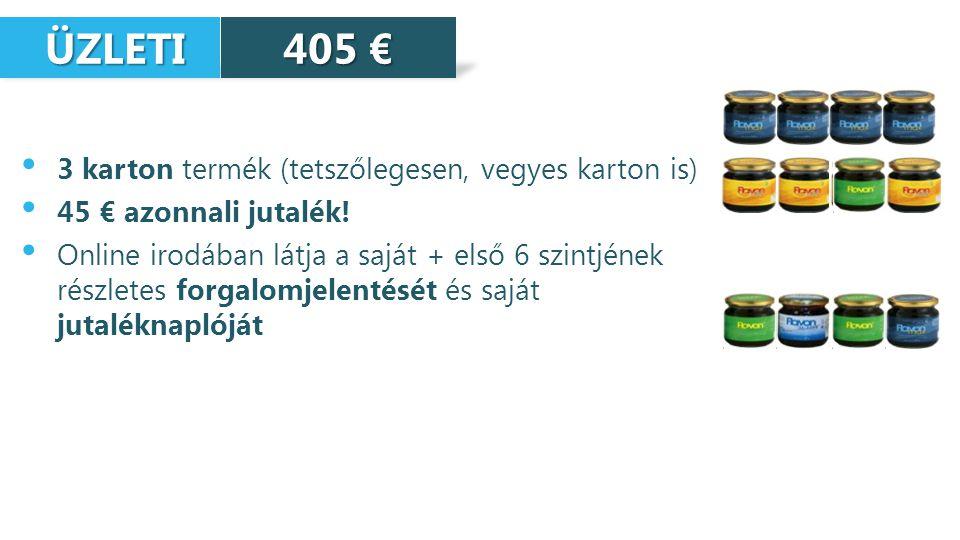 ÜZLETI 405 € 3 karton termék (tetszőlegesen, vegyes karton is)