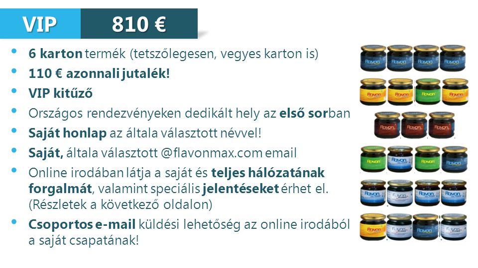 VIP 810 € 6 karton termék (tetszőlegesen, vegyes karton is)