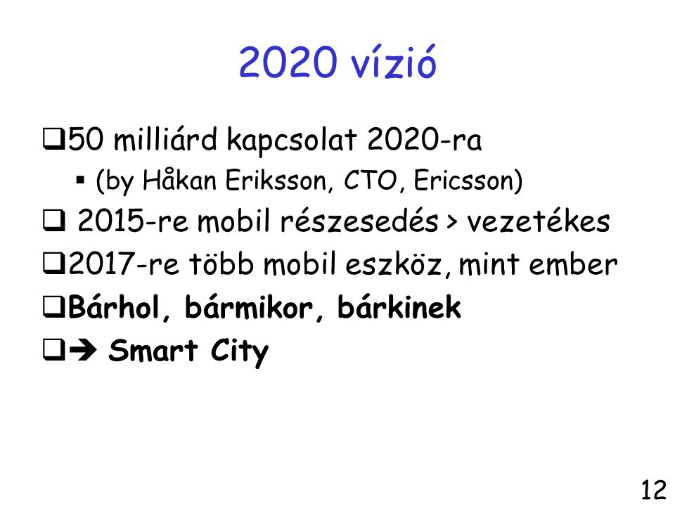 2020 vízió 50 milliárd kapcsolat 2020-ra