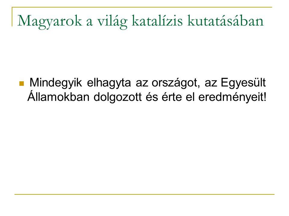 Magyarok a világ katalízis kutatásában