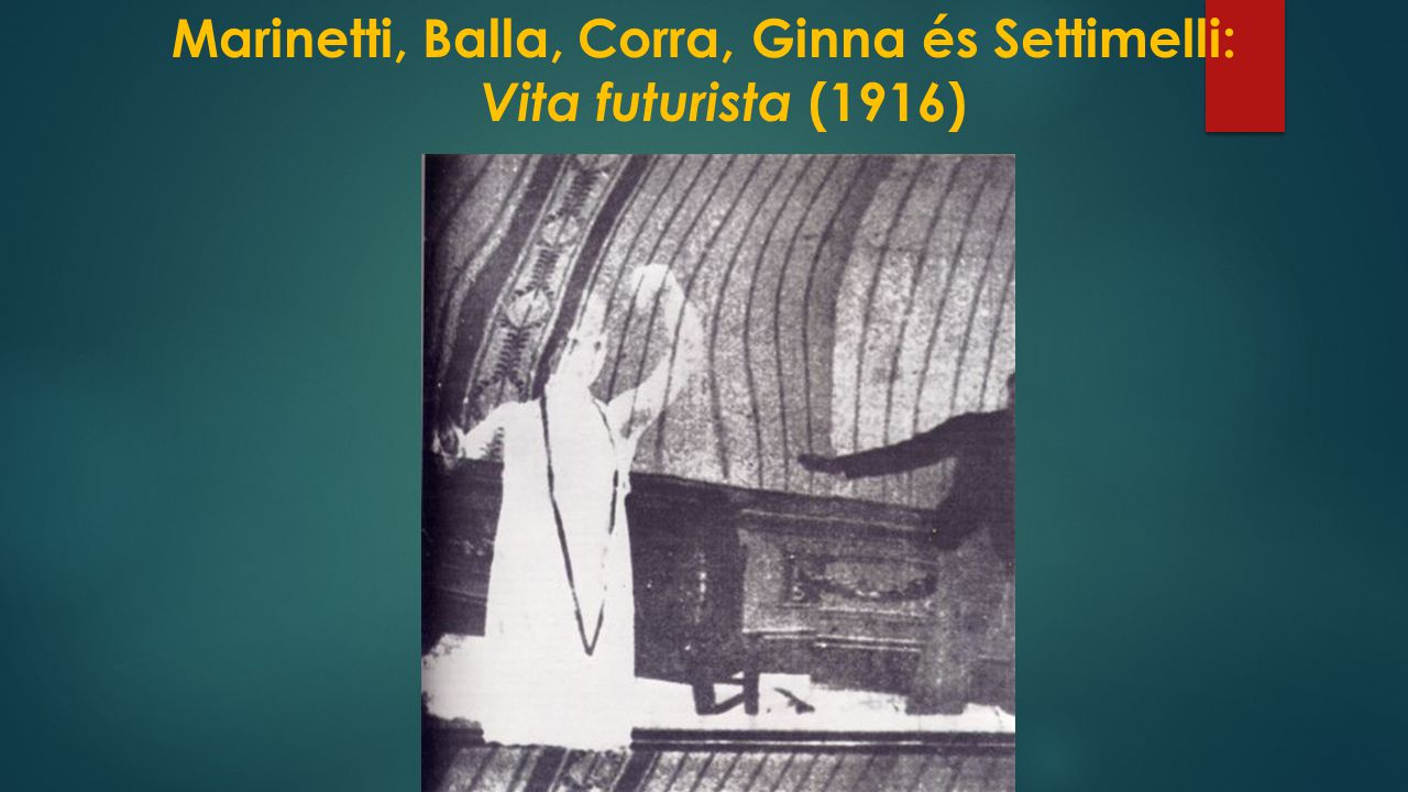 Marinetti, Balla, Corra, Ginna és Settimelli: Vita futurista (1916)