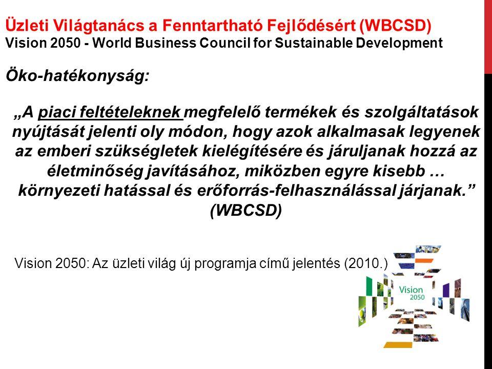 Üzleti Világtanács a Fenntartható Fejlődésért (WBCSD)