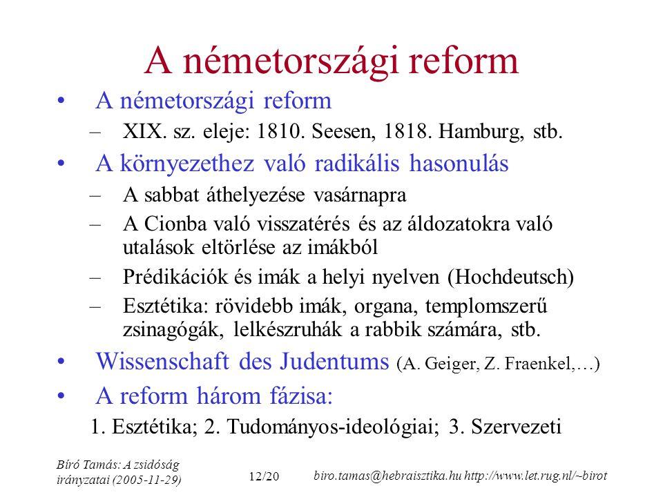 A németországi reform A németországi reform