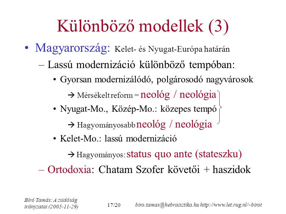 Különböző modellek (3) Magyarország: Kelet- és Nyugat-Európa határán