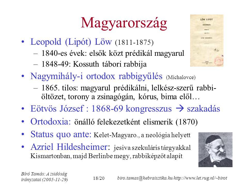 Magyarország Leopold (Lipót) Löw (1811-1875)