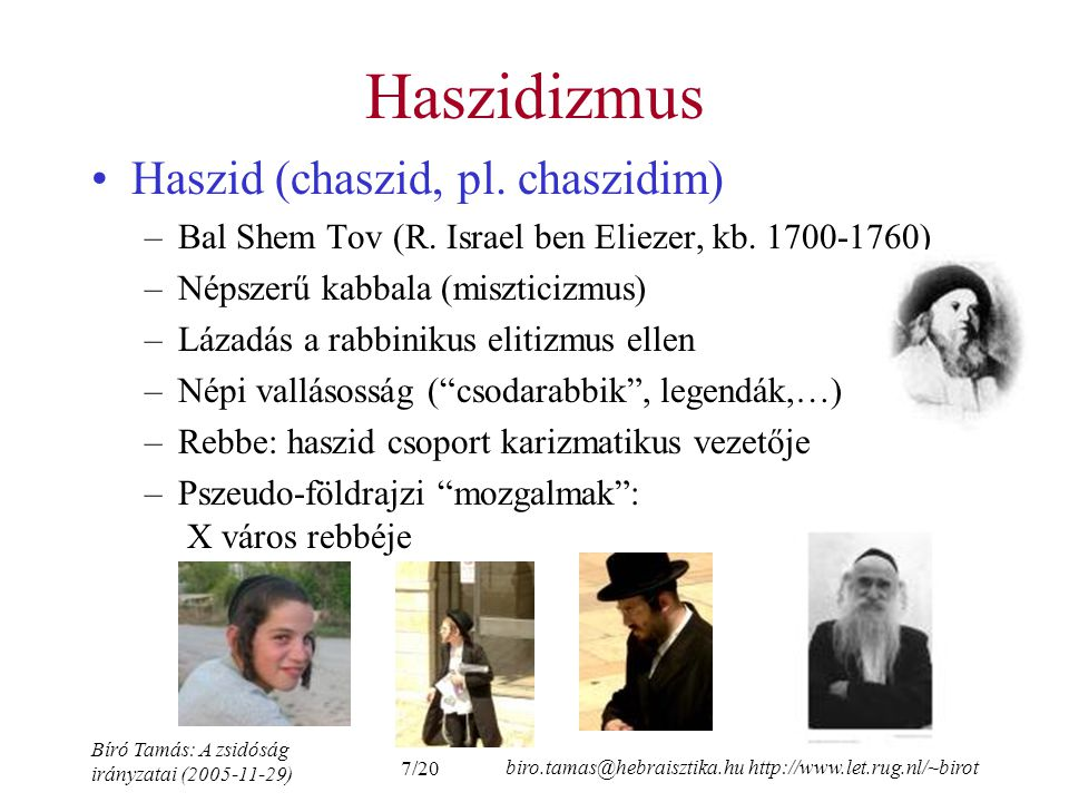 Haszidizmus Haszid (chaszid, pl. chaszidim)
