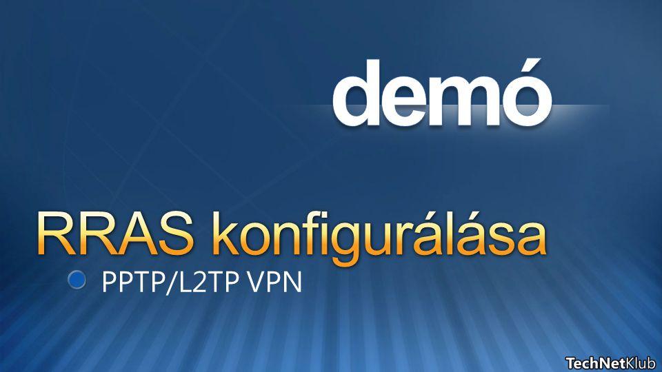 RRAS konfigurálása PPTP/L2TP VPN