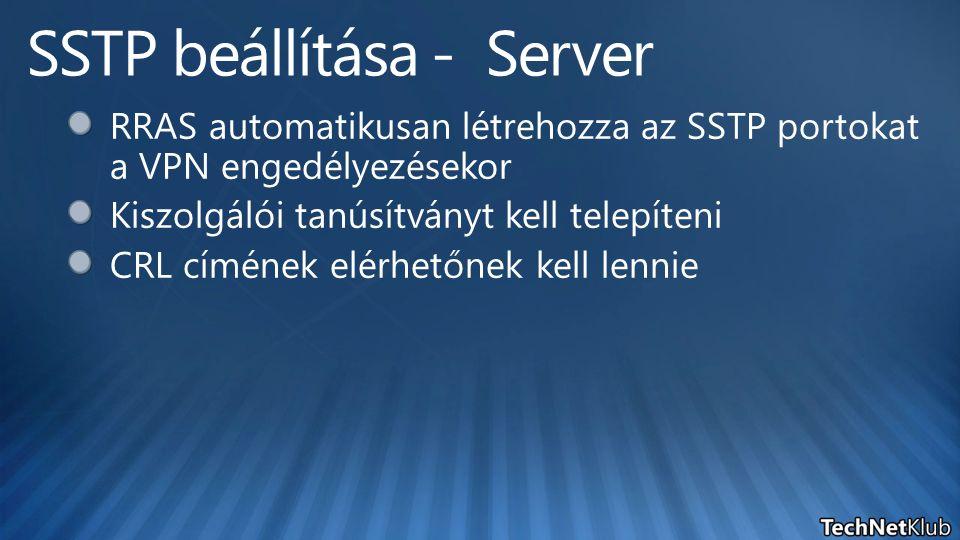 SSTP beállítása - Server