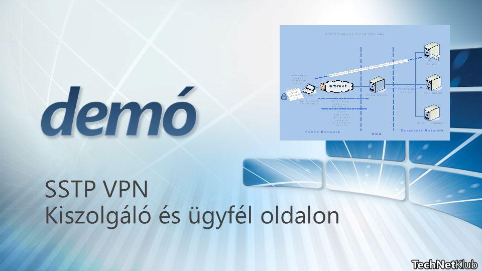SSTP VPN Kiszolgáló és ügyfél oldalon
