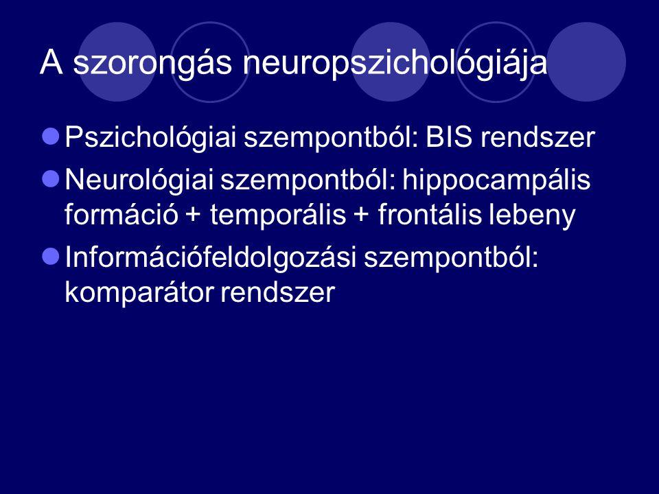 A szorongás neuropszichológiája