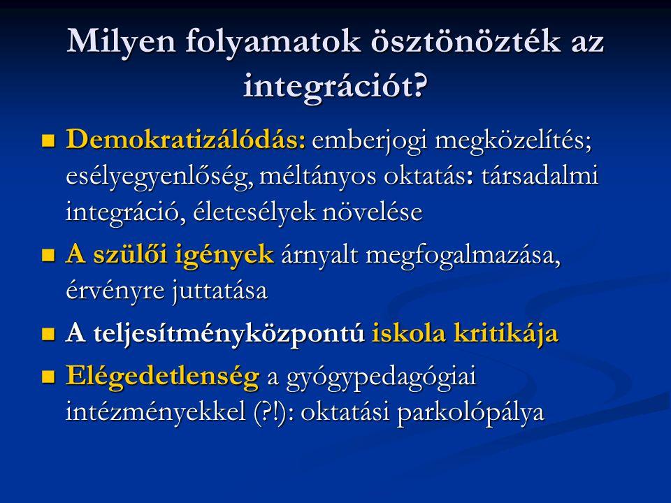 Milyen folyamatok ösztönözték az integrációt