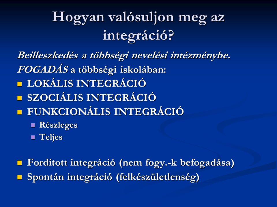Hogyan valósuljon meg az integráció
