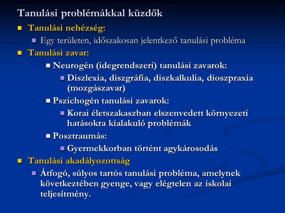 Tanulási problémákkal küzdők