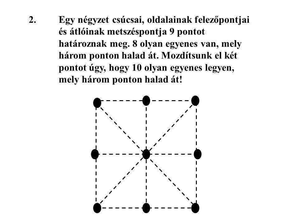 2. Egy négyzet csúcsai, oldalainak felezőpontjai