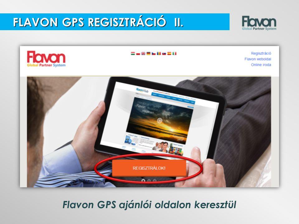 Flavon GPS ajánlói oldalon keresztül