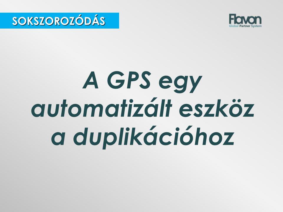 A GPS egy automatizált eszköz a duplikációhoz