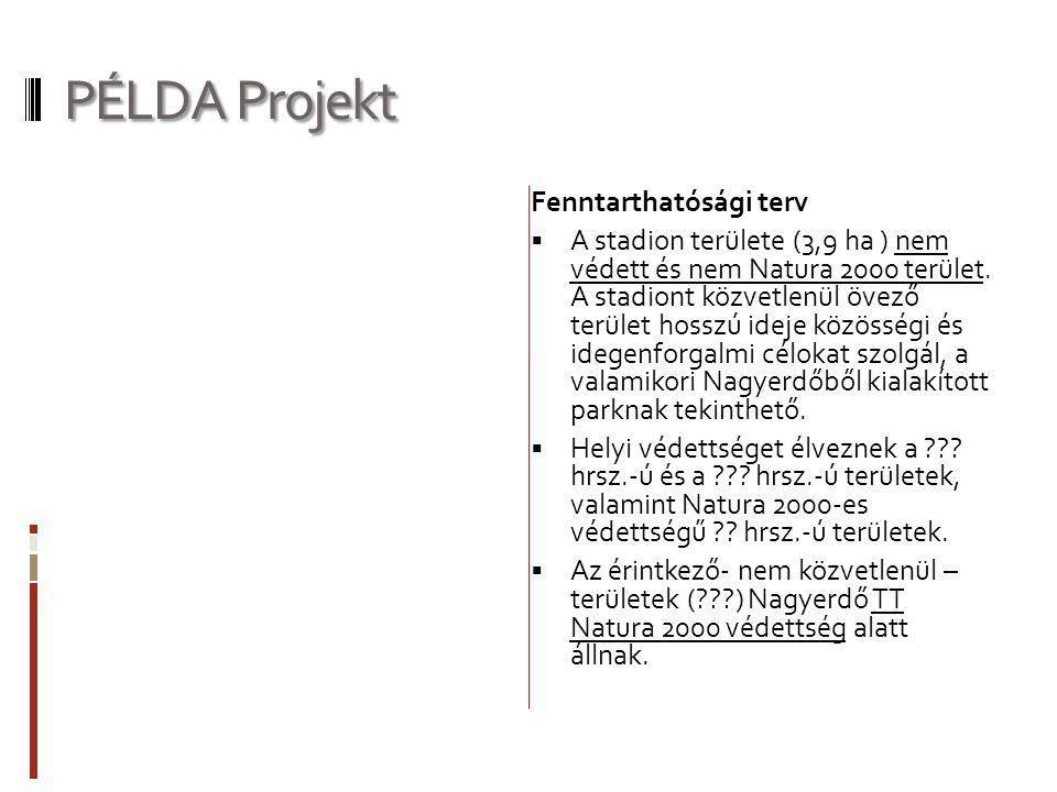 PÉLDA Projekt Fenntarthatósági terv