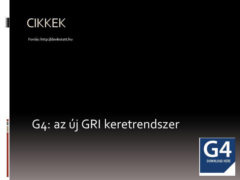 G4: az új GRI keretrendszer