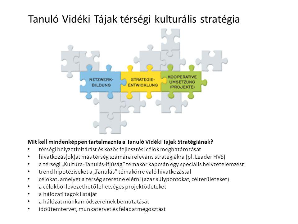 Tanuló Vidéki Tájak térségi kulturális stratégia