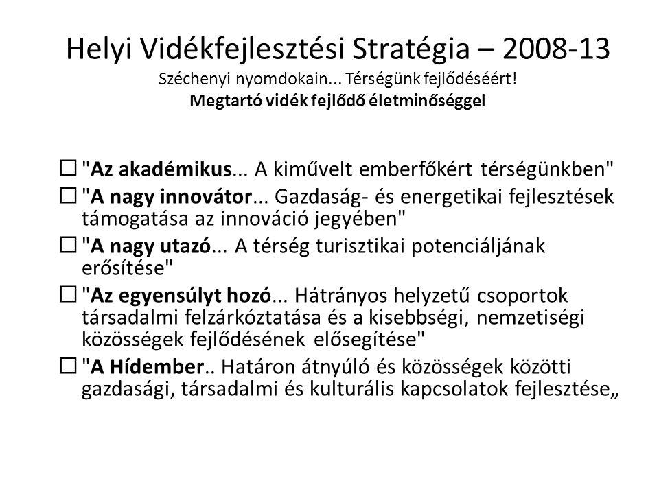 Helyi Vidékfejlesztési Stratégia – 2008-13 Széchenyi nyomdokain
